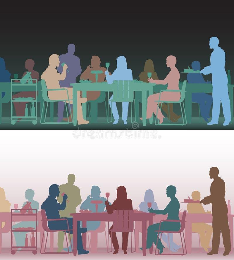 тонизированный ресторан иллюстрация вектора