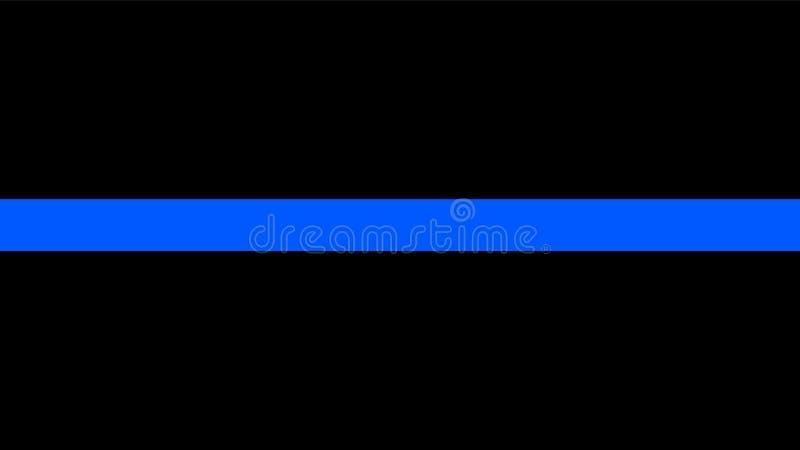 Тонкая голубая линия флаг - знак удостоить и уважать полиции иллюстрация штока