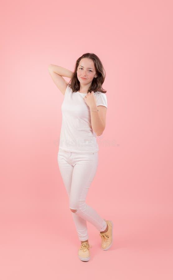 Тонкая девушка подростка стоковые фотографии rf