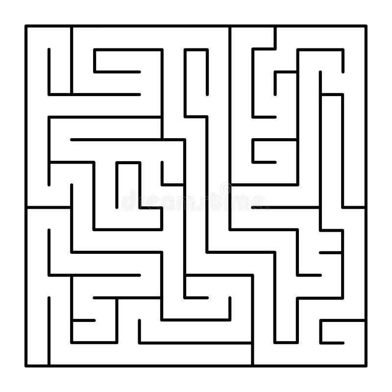 Тонкая линия лабиринт стиля на белой предпосылке вектор иллюстрация штока