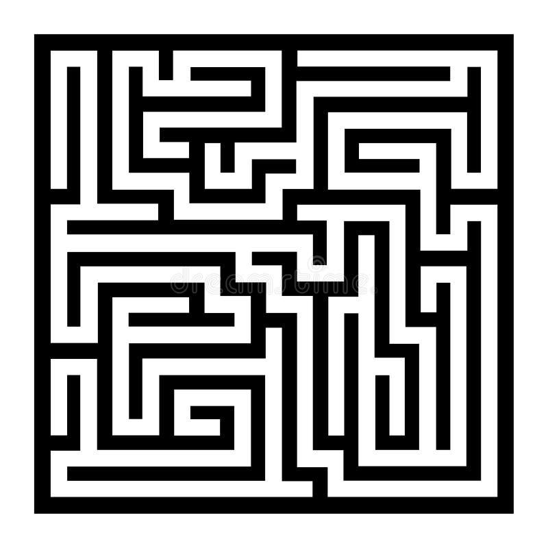 Тонкая линия лабиринт стиля на белой предпосылке вектор бесплатная иллюстрация
