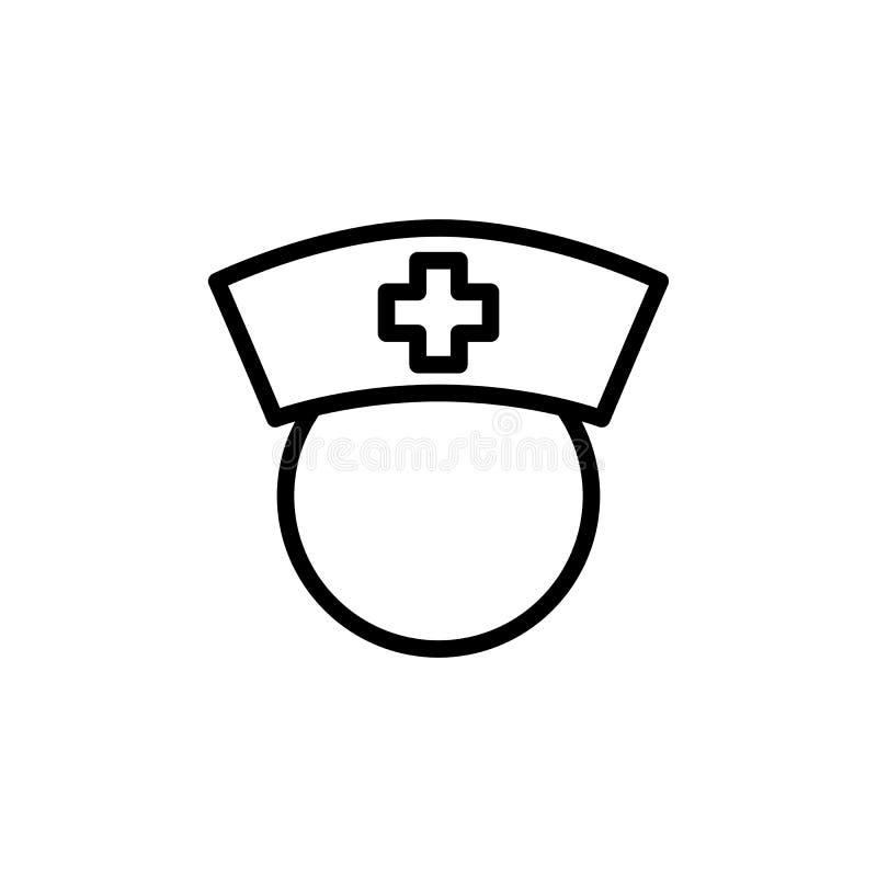 Тонкая линия значок медсестры стоковые изображения