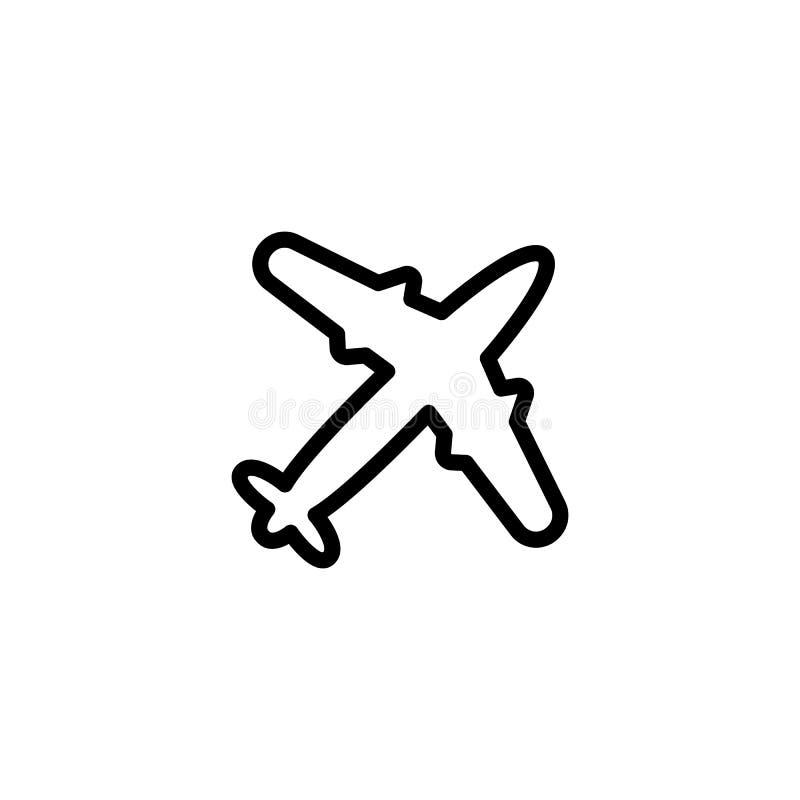 Тонкая линия значок самолета стоковое фото rf