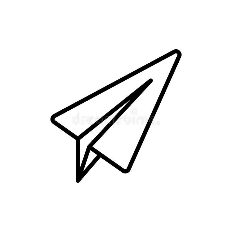 Тонкая линия телеграмма, плоский значок иллюстрация штока
