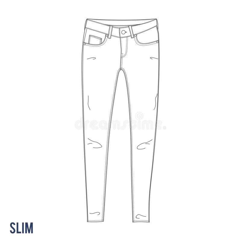 Тонкие джинсы стоковые фотографии rf