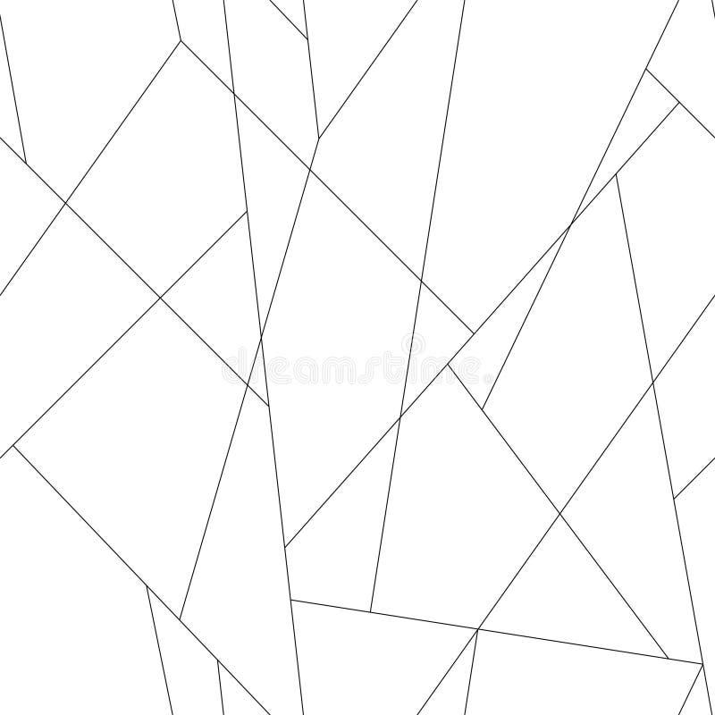 Тонкие линии картина Предпосылка ходов безшовного вектора ультрамодная стильная тонкая черная иллюстрация вектора