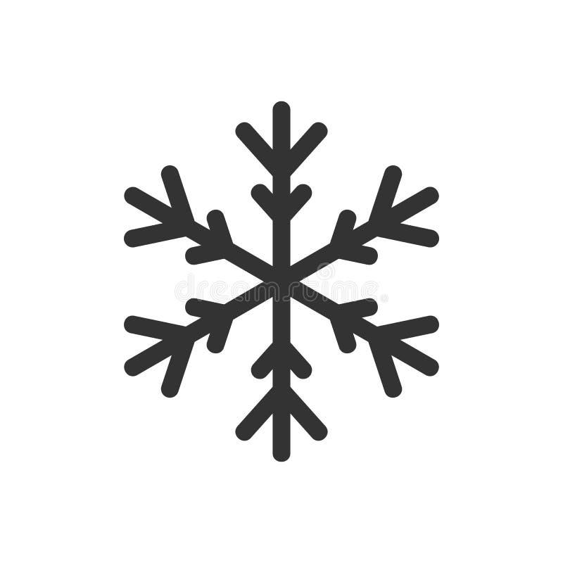 Тонкий значок снежинки иллюстрация штока