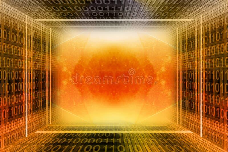 тоннель бинарного Кода цифровой стоковое фото rf