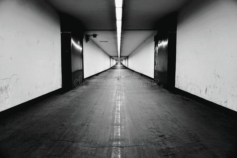 Тоннель в Антверпене стоковые изображения