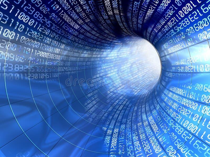 тоннель интернета иллюстрация штока