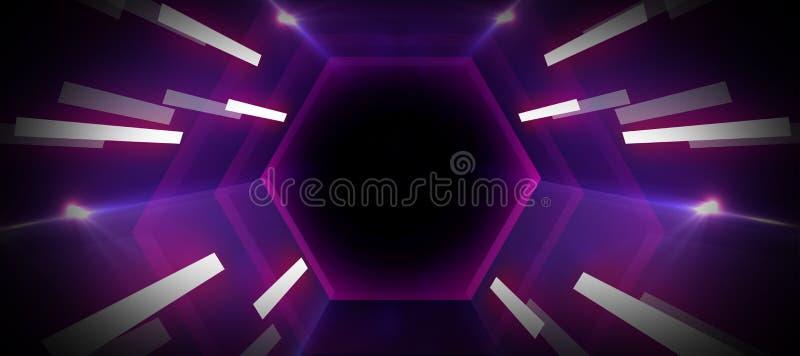 Тоннель неонового света бесплатная иллюстрация
