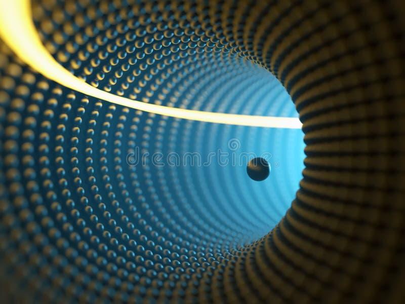 Тоннель переплетенный конспектом иллюстрация вектора