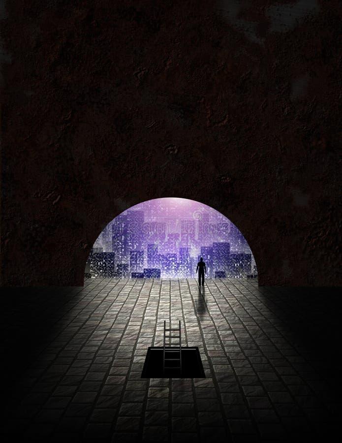 тоннель увиденный городом бесплатная иллюстрация