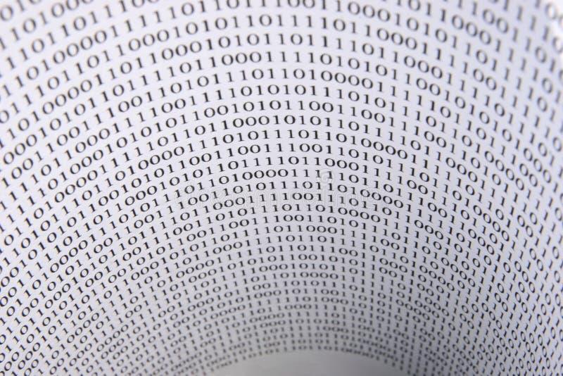 Тоннель чисел стоковое изображение rf