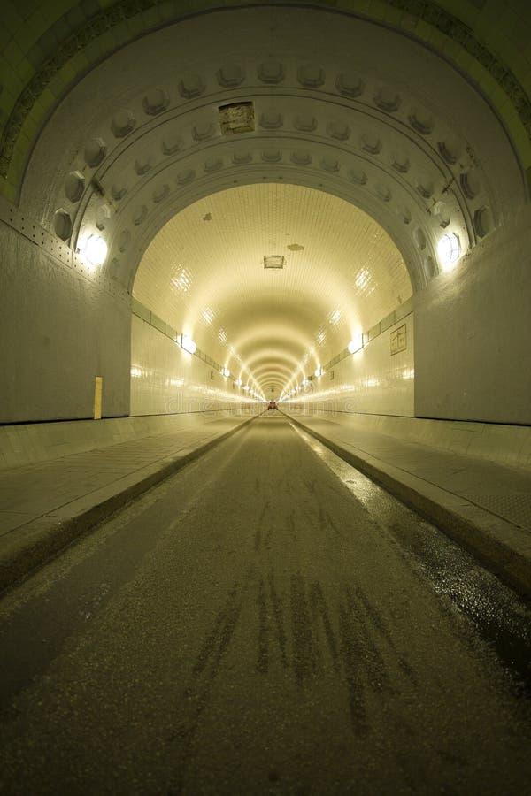 тоннель elbe hamburg старый стоковые изображения rf