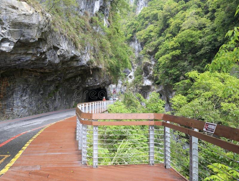 Тоннель ущелья taroko стоковое изображение rf