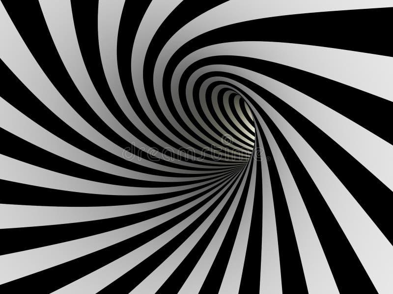 Тоннель черно-белых линий бесплатная иллюстрация