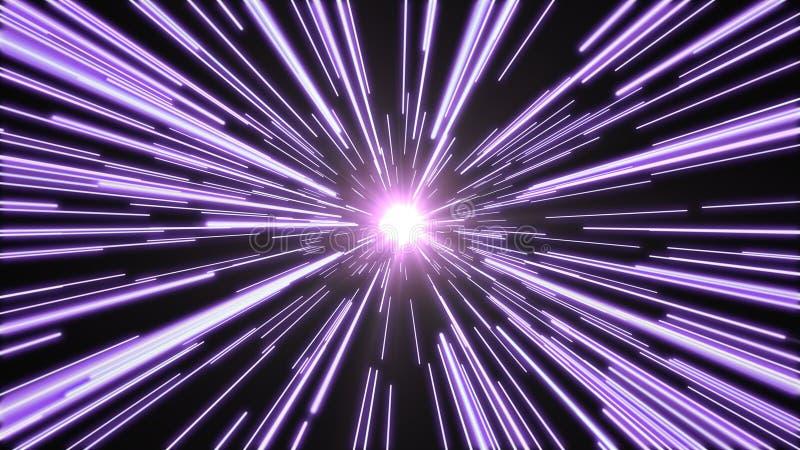 Тоннель яркого, фиолетового света стоковые изображения