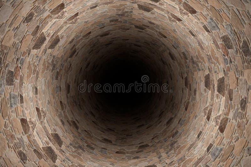 тоннель 3D иллюстрация вектора