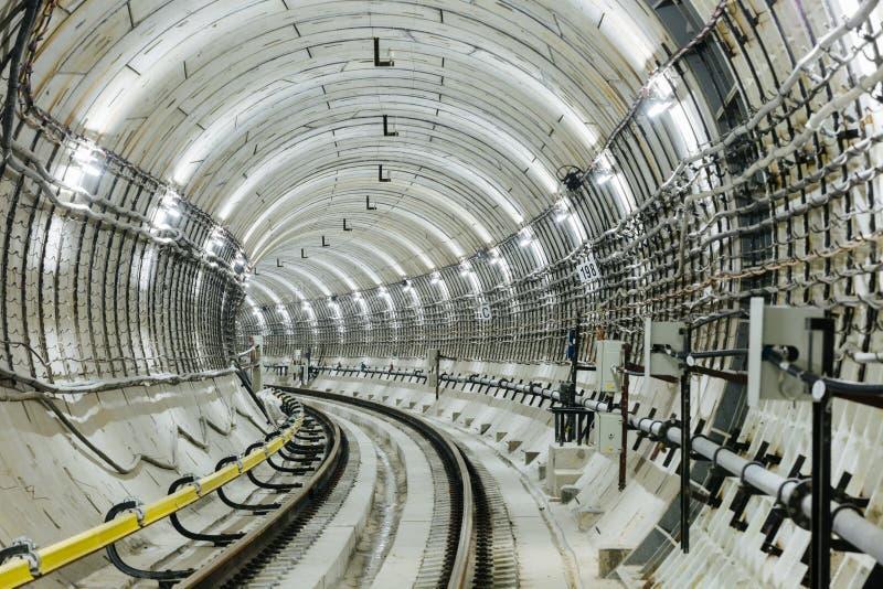 Тоннель NYC подземки стоковое фото rf