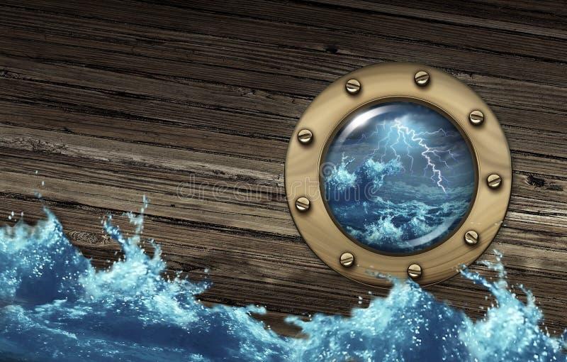 Тонуть корабль бесплатная иллюстрация
