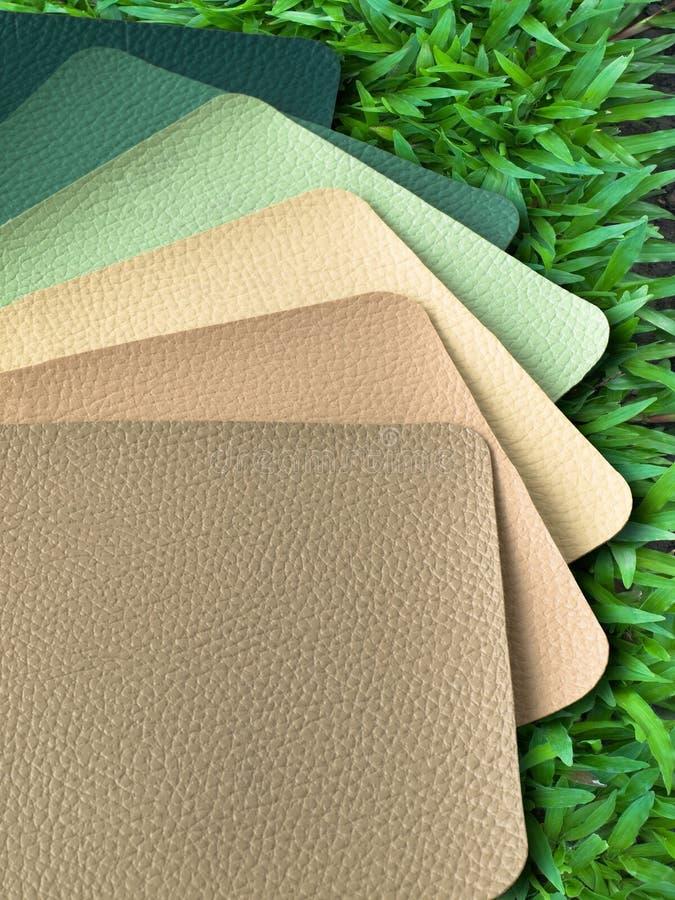 тон образца leatherette земли цвета стоковые изображения