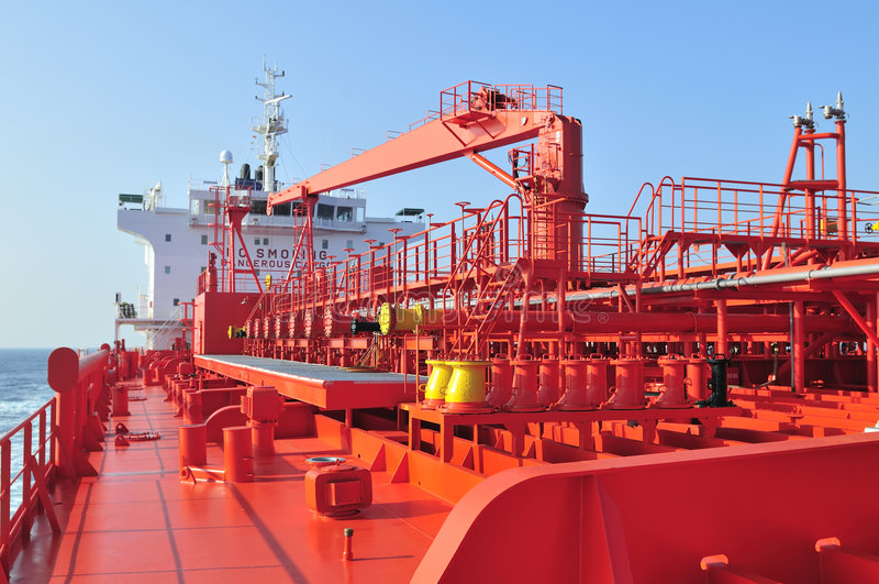 топливозаправщик корабля сырой нефти несущей стоковое фото