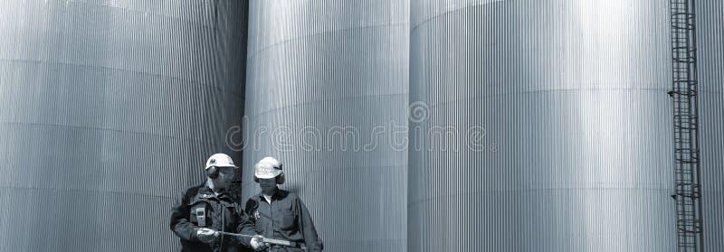 топливо инженеров панорамное стоковое фото