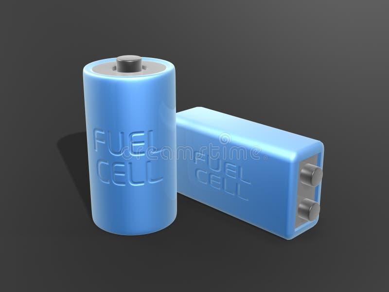 топливо клетки батареи голубое иллюстрация штока