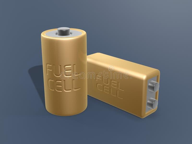 топливо клетки батареи золотистое иллюстрация вектора
