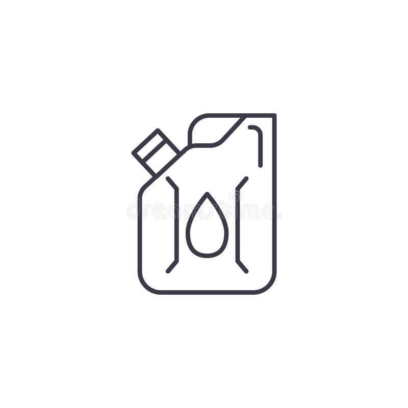 Топливо может линейная концепция значка Топливо может выровнять знак вектора, символ, иллюстрацию иллюстрация штока