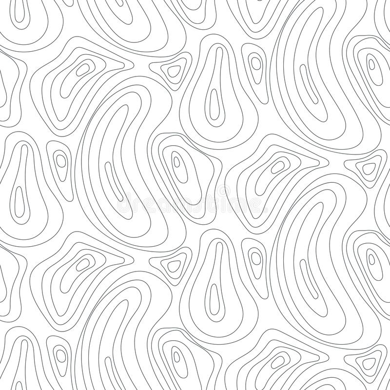 Топографическая линия картина конспекта безшовная иллюстрация вектора