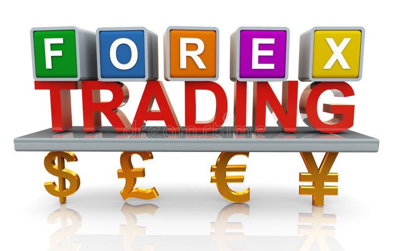 торговая операция валют 3d иллюстрация вектора