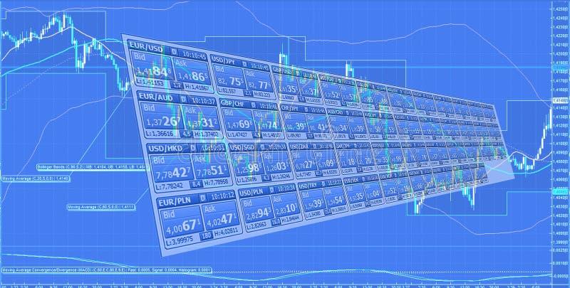 Торговая операция валют иллюстрация вектора