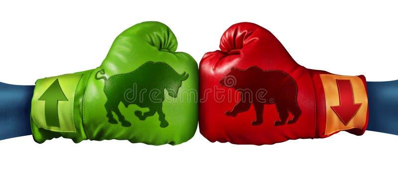 Торговая операция фондовой биржи иллюстрация вектора