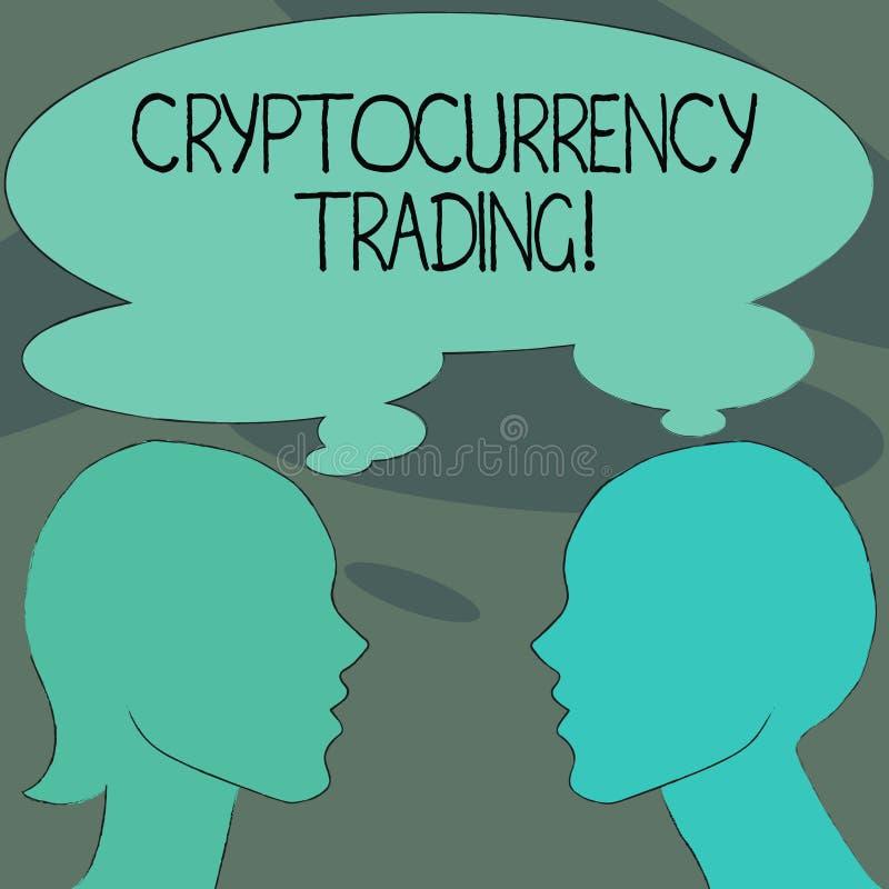 Торговая операция Cryptocurrency текста почерка Концепция знача просто обмен cryptocurrencies в рынке иллюстрация вектора