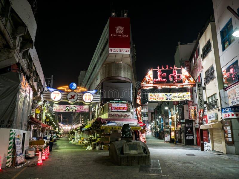 Торговая улица Ameyoko, токио Японии стоковое изображение rf