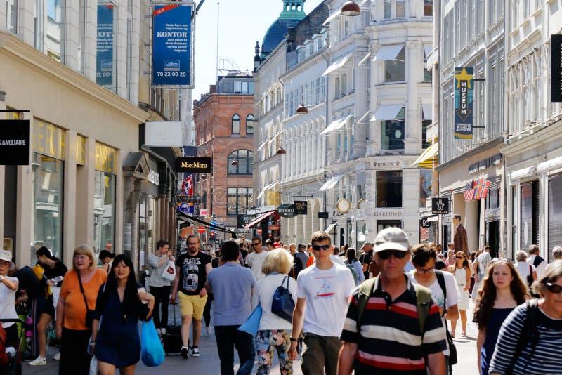 Торговая улица Stroget стоковое изображение rf