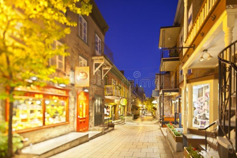 Торговая улица в Квебеке (город), Канаде стоковые фотографии rf