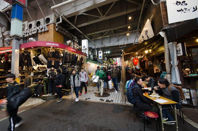 Торговая улица Ameyoko стоковые фотографии rf