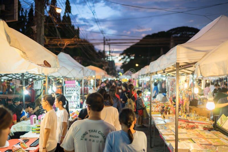 Торговая улица Chiang Rai стоковое фото rf
