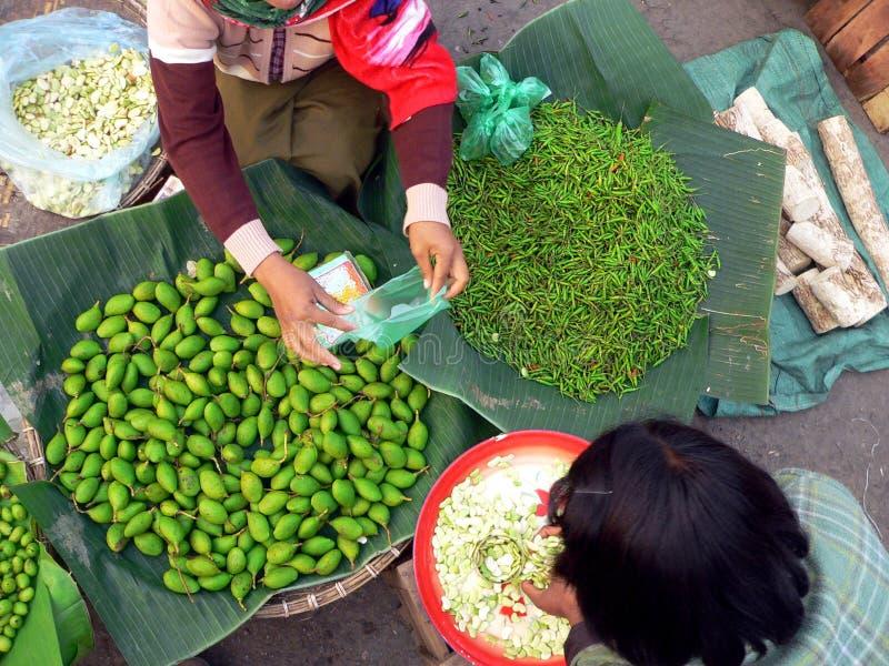 торговля рынка Бирмы стоковое фото