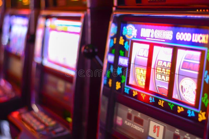 Торговые автоматы в Лас-Вегас стоковые фотографии rf