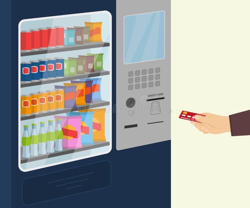 Торговый автомат закуски бесплатная иллюстрация