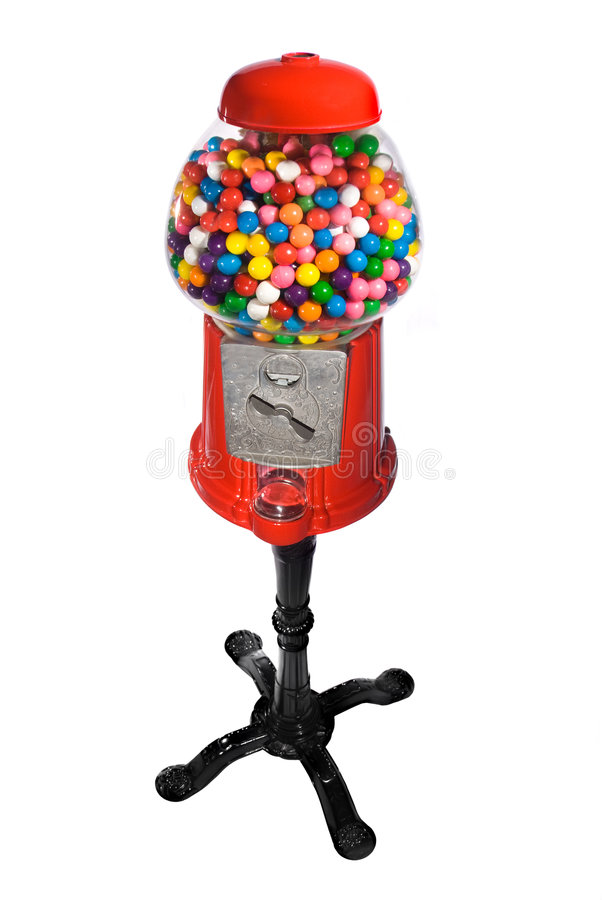 торговый автомат машины gumball стоковое изображение rf