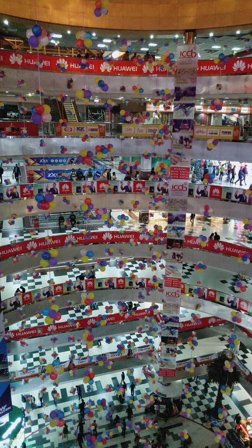 Торговый центр города Bushundhara стоковые изображения rf