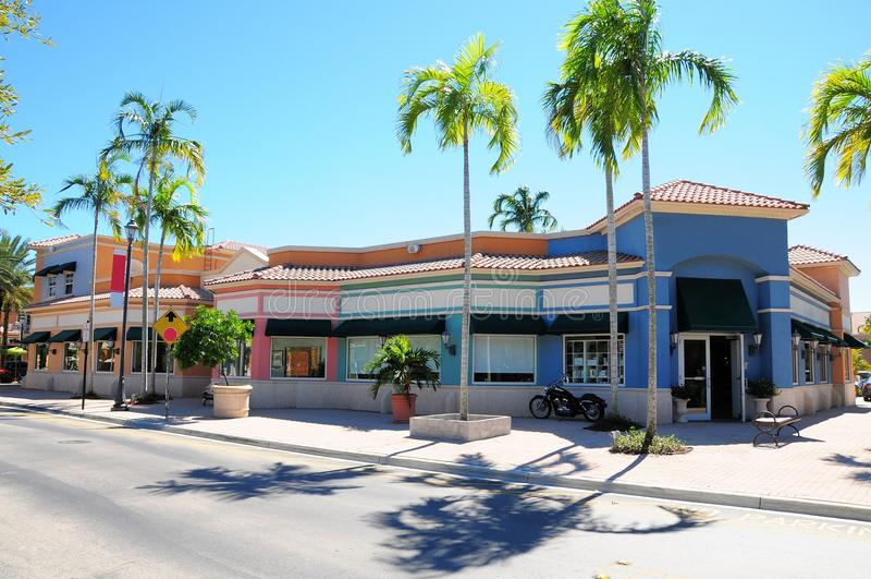Торговый центр магазина розничной торговли передний, южная Флорида стоковые изображения rf