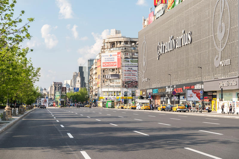 Торговый центр мола Unirea (Magazinul Unirea) в Бухаресте стоковое изображение rf