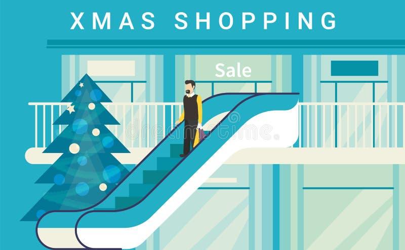 Торговый центр рождества бесплатная иллюстрация