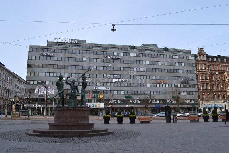 Торговый центр Хельсинки форума, Финляндия стоковые фотографии rf